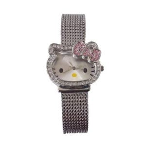 Hello Kitty Mesh Band Quartz Watch!